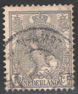 Netherlands Scott 67 Used