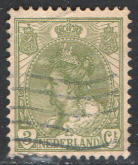Netherlands Scott 62 Used