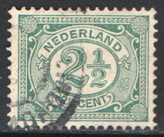 Netherlands Scott 60 Used