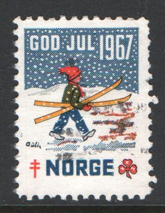 Norway 1967 Christmas Seal Used