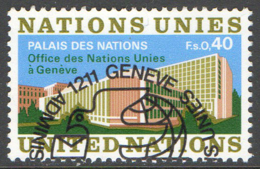 United Nations Geneva Scott 22 Used