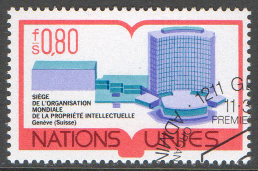 United Nations Geneva Scott 64 Used