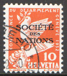Switzerland Scott 2-O-37 Used