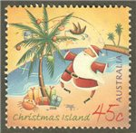 Christmas Island Scott 452 Used