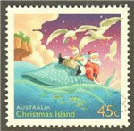 Christmas Island Scott 443 Used