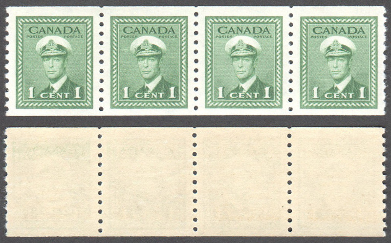 Canada Scott 278 MNH VF Strip (P) - Click Image to Close