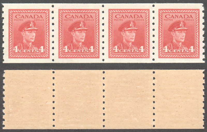 Canada Scott 267 MNH Strip VF (P) - Click Image to Close