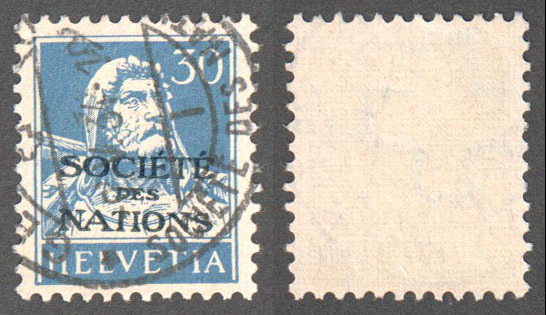 Switzerland Scott 2-O-17a Used (P) - Click Image to Close