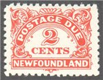 Newfoundland Scott J2 Mint VF (P10.3x10.3)