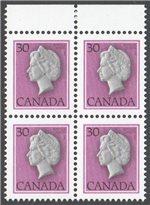 Canada Scott 791T1 MNH Block (P)