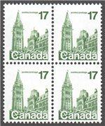 Canada Scott 790var MNH Block