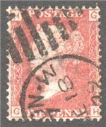 Great Britain Scott 33 Used Plate 204 - GH