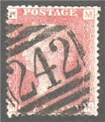 Great Britain Scott 33 Used Plate 203 - MH