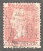 Great Britain Scott 33 Used Plate 208 - KF