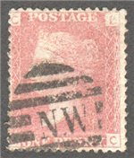 Great Britain Scott 33 Used Plate 173 - LC
