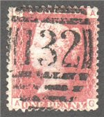 Great Britain Scott 33 Used Plate 125 - AG