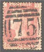 Great Britain Scott 33 Used Plate 158 - GC