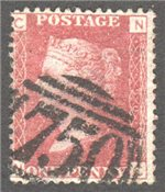 Great Britain Scott 33 Used Plate 90 - NC