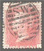 Great Britain Scott 33 Used Plate 122 - KL
