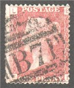 Great Britain Scott 33 Used Plate 176 - EL