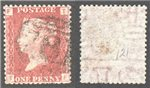 Great Britain Scott 33 Used Plate 121 - TF (Var)