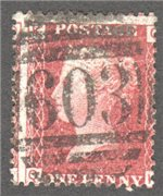 Great Britain Scott 33 Used Plate 103 - QK