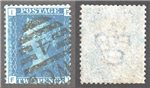 Great Britain Scott 30 Used Plate 14 - FI (P)
