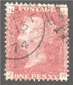 Great Britain Scott 33 Used Plate 138 - JH