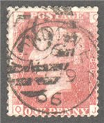 Great Britain Scott 33 Used Plate 86 - QJ