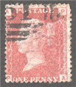 Great Britain Scott 33 Used Plate 110 - PA