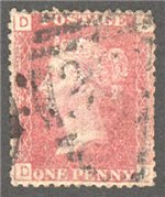 Great Britain Scott 33 Used Plate 120 - DD