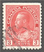 Canada Scott 109as Used VF