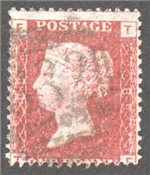 Great Britain Scott 33 Used Plate 89 - TF