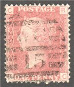 Great Britain Scott 33 Used Plate 90 - RC (1)