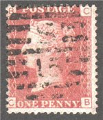 Great Britain Scott 33 Used Plate 97 - CB