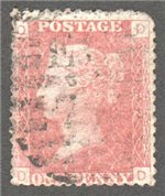 Great Britain Scott 33 Used Plate 122 - DD