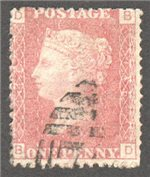 Great Britain Scott 33 Used Plate 146 - BD