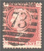 Great Britain Scott 33 Used Plate 95 - MF
