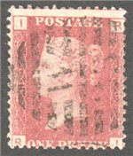 Great Britain Scott 33 Used Plate 89 - RI