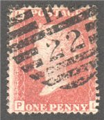 Great Britain Scott 33 Used Plate 100 - PL