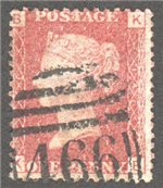 Great Britain Scott 33 Used Plate 146 - KB