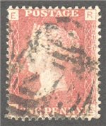 Great Britain Scott 33 Used Plate 146 - RE