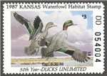 United States of America - Kansas Scott 1 MNH (P235)
