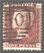 Great Britain Scott 33 Used Plate 217 - BF