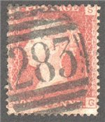 Great Britain Scott 33 Used Plate 191 - SG