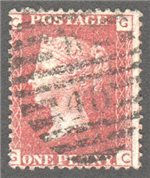 Great Britain Scott 33 Used Plate 112 - GC