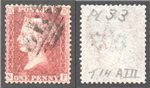 Great Britain Scott 20 Used Plate 33 - NF (P)