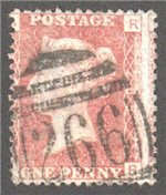 Great Britain Scott 33 Used Plate 208 - RB