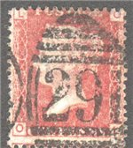 Great Britain Scott 33 Used Plate 191 - OL
