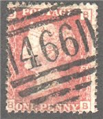 Great Britain Scott 33 Used Plate 196 - BB